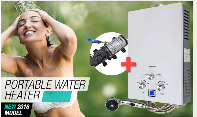 Portable water heater pump